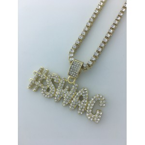 Iced Out #SWAG Pendant Necklace