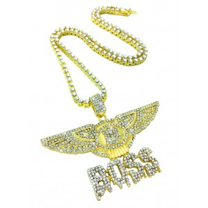 Iced Out Bentley Boss Pendant Necklace