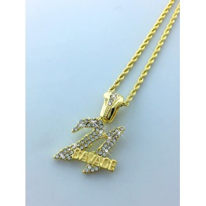 Iced Out SAVAGE 21 Pendant Necklace
